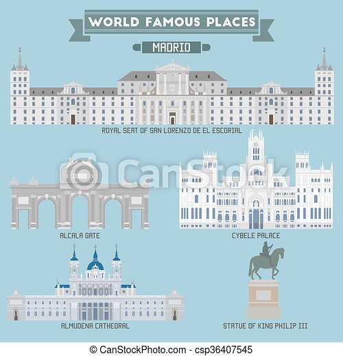 World Famous Place. Spain. Madrid - csp36407545