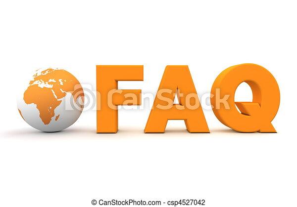 World FAQ Orange - csp4527042