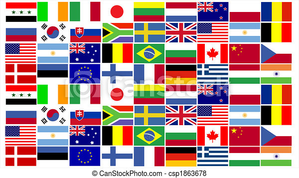 World Flags combined - csp1863678