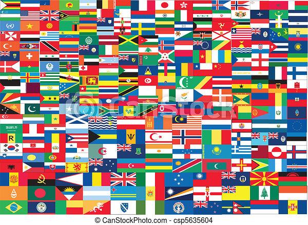 World flags set - csp5635604