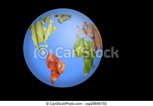 World fruits vegetables map world map collage of lots of popular world fruits vegetables map csp29846150 gumiabroncs Images