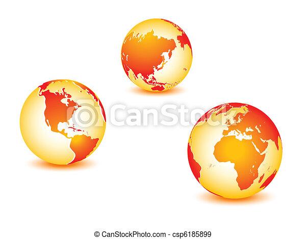 World global planet earth  - csp6185899