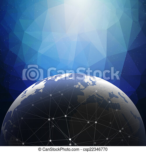 World globe connections network design illustration - csp22346770