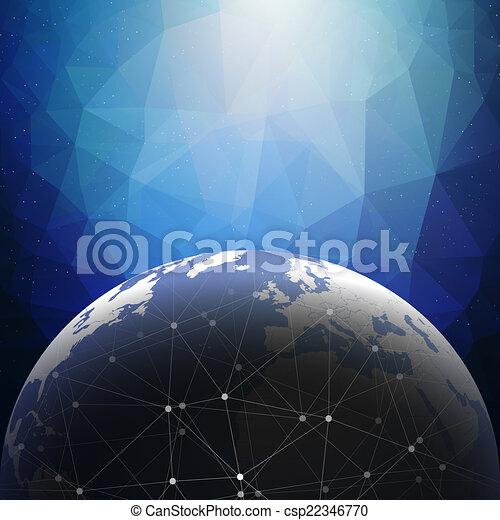World globe connections network design illustration - csp22346770