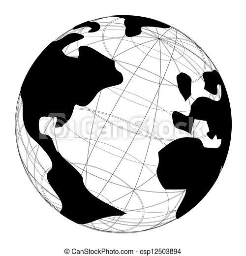 World Globe   Csp12503894