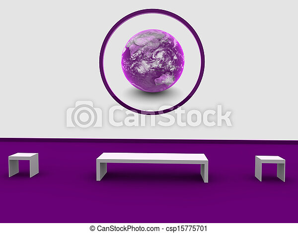 world globe on wall - csp15775701