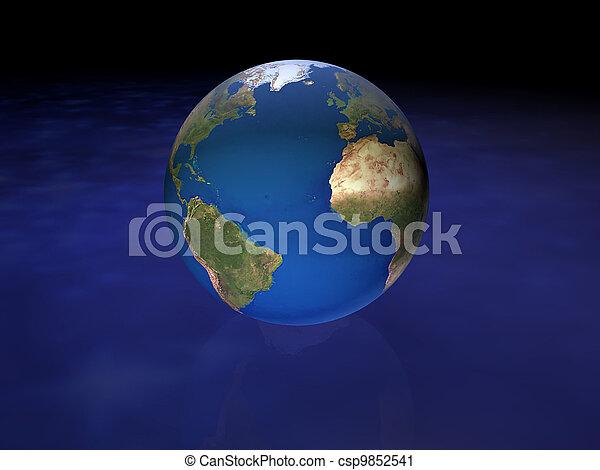 world globe - csp9852541