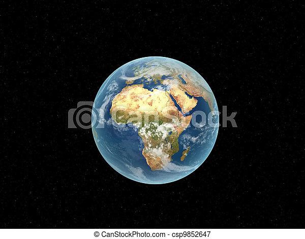 world globe - csp9852647