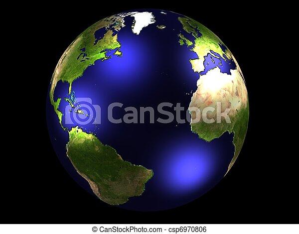 world globe - csp6970806