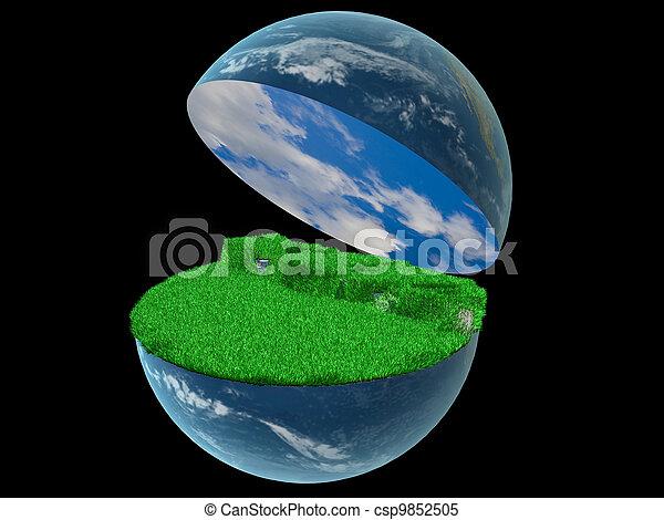 world globe - csp9852505