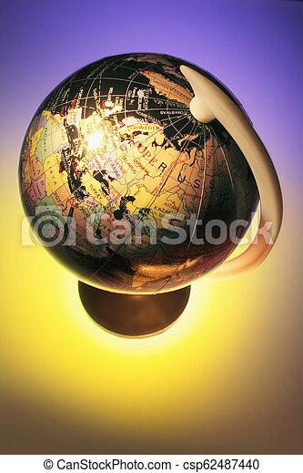 World Globe - csp62487440