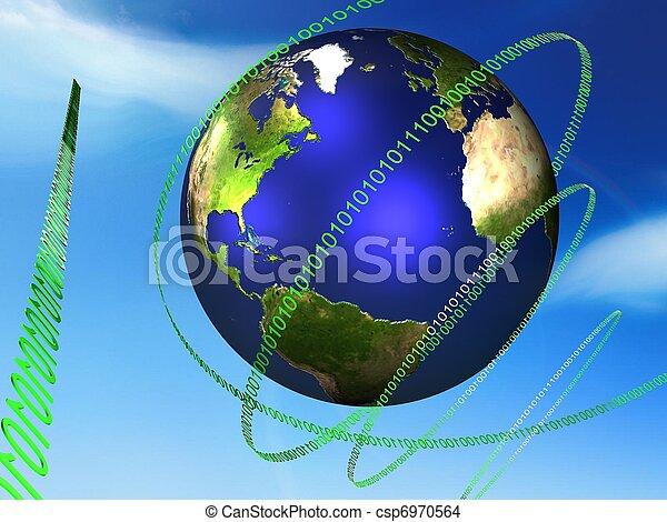 world globe - csp6970564