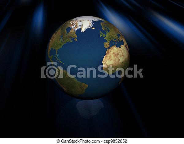 world globe - csp9852652