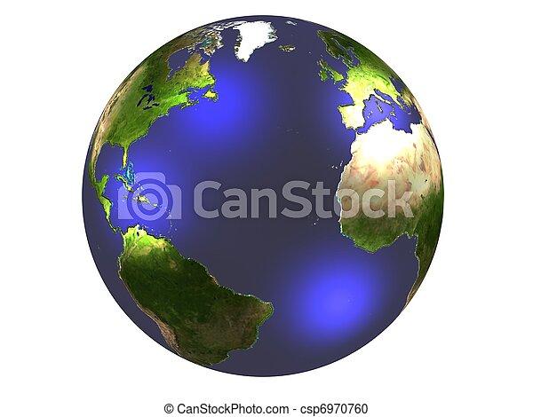 world globe - csp6970760