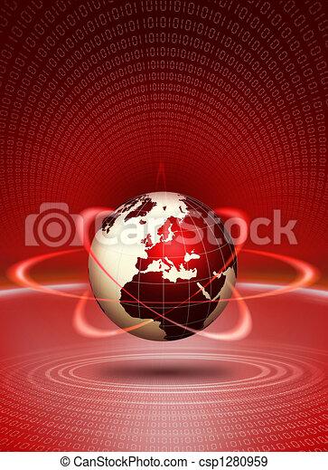 World globe technological action - csp1280959