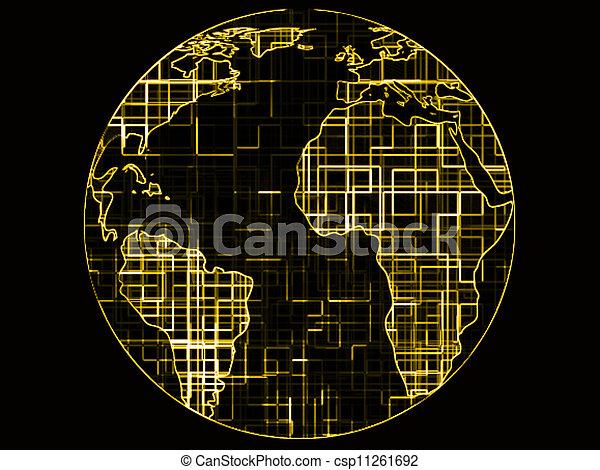 World globe technology abstract - csp11261692
