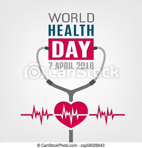 World Health Day Concept 7 April 2018 Medicine And Healthcare Image Editable Vector Illustration In Red Blue Grey Colors Isolated On A White