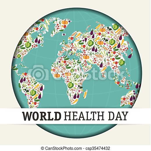 Nutrition Food For Healthy Life World Health Day Concept