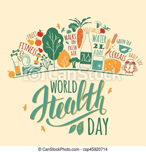 240036f375c4 World health day vector illustration.