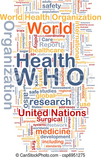 World health organization who background concept ...