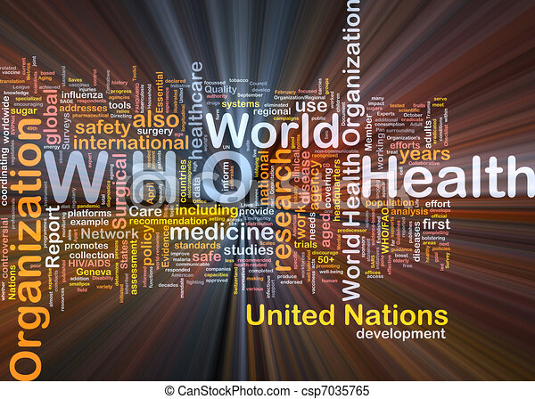 World health organization who background concept glowing ...