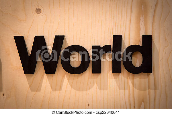 World in Wood Type - csp22640641