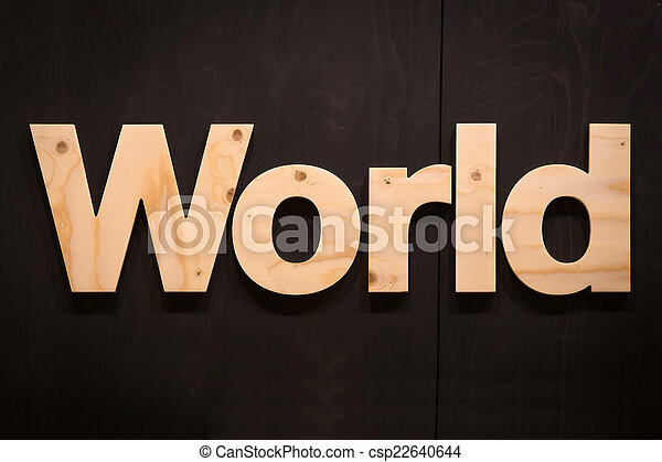 World in Wood Type - csp22640644