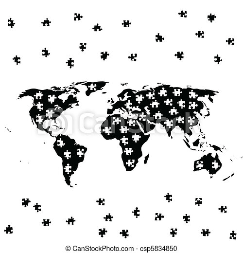 World jigsaw illustration of map of the world as a puzzle world jigsaw vector gumiabroncs Choice Image