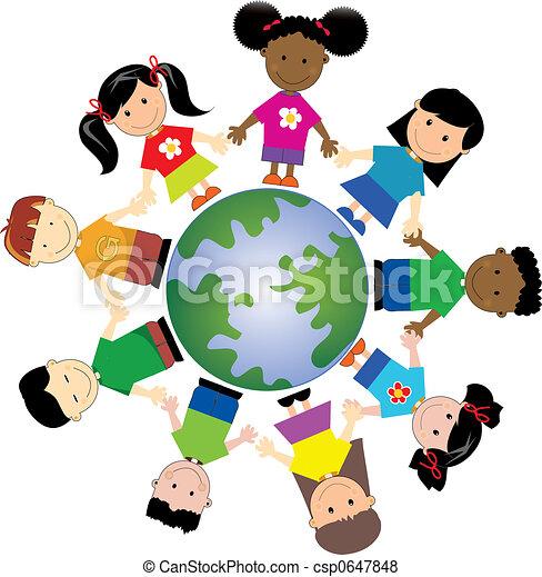 world kids 1 kids around globe united togather from different rh canstockphoto com