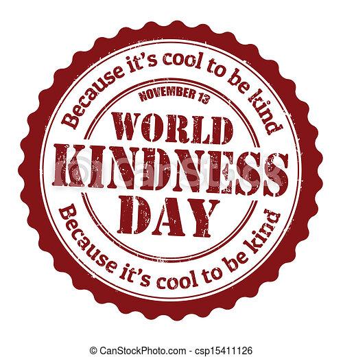 World kindness day stamp - csp15411126