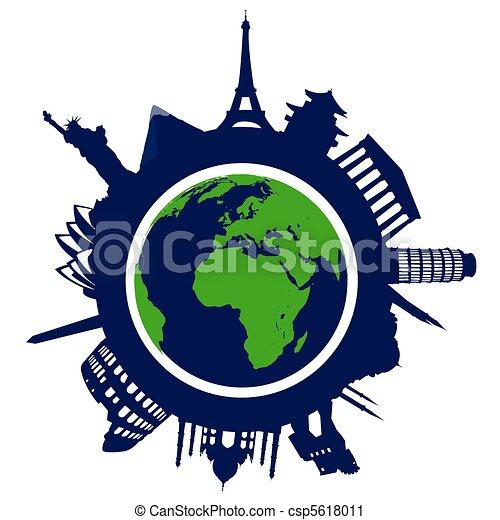 world landmarks - csp5618011