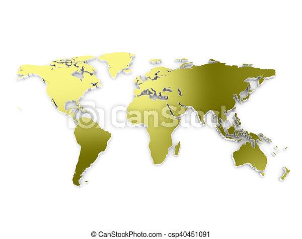 World map 3d gold world map 3d embros dark gold metallic texture world map 3d gold csp40451091 gumiabroncs Gallery