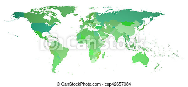 World map 3d rendering green flat world map isolated on white 3d world map 3d rendering csp42657084 gumiabroncs Images