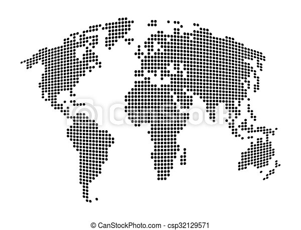 World map abstract dotted vector background black and vectors world map abstract dotted vector background black and white silhouette illustration gumiabroncs Image collections