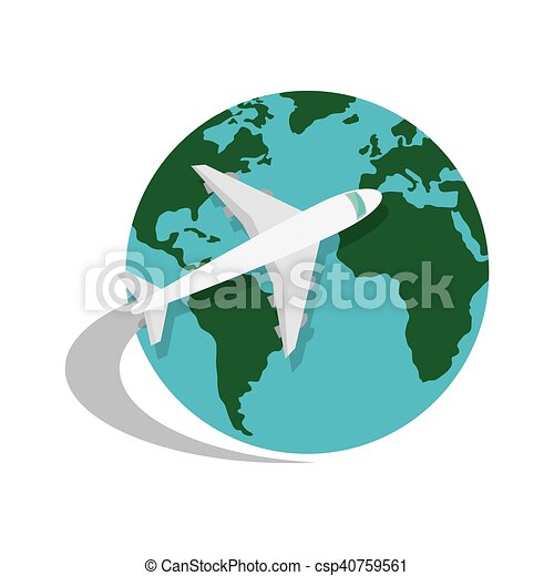 World map and airplane world map globe with airplane icon clip world map and airplane csp40759561 gumiabroncs Image collections
