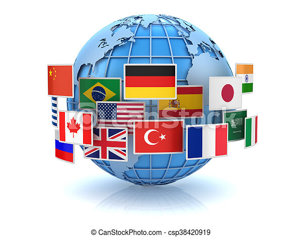 World map and country flags this is a 3d computer stock world map and country flags csp38420919 gumiabroncs Choice Image