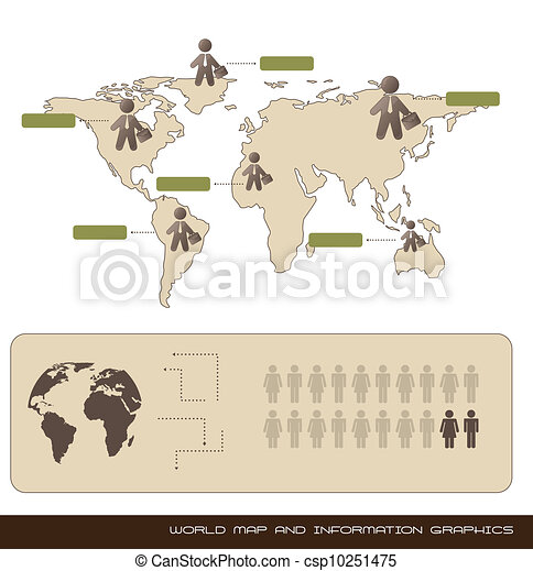 world map and information graphics - csp10251475