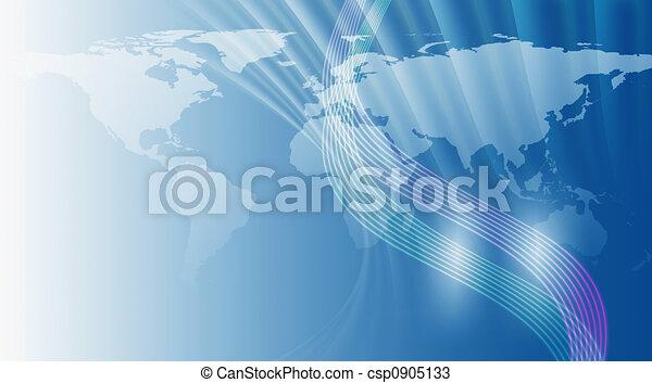 World Map Background - csp0905133