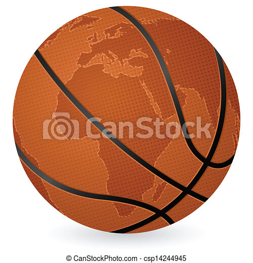 World map basketball ball world map basketball ball on a white world map basketball ball csp14244945 gumiabroncs Gallery