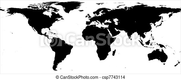 World map black and white border drawing search clip art world map black and white border stock illustration gumiabroncs Images