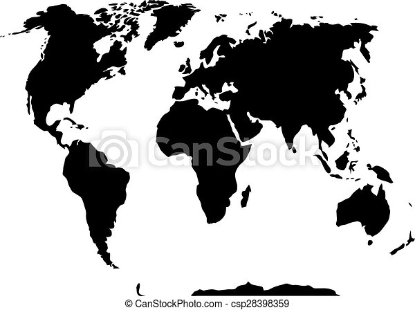 World map black and white country and international atlas and world map black and white csp28398359 gumiabroncs Choice Image