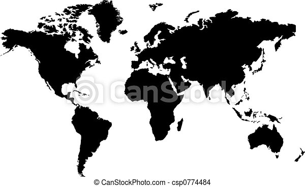 World map black isolated black and white map of the word drawing world map black csp0774484 gumiabroncs Images