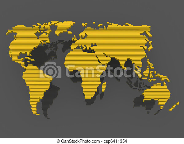World map black gold world map earth europe america world map black gold csp6411354 gumiabroncs Gallery