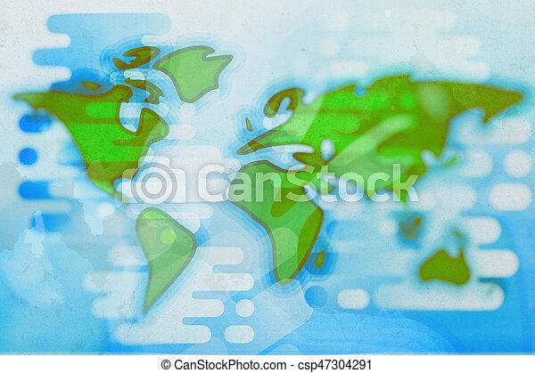 World map cartoon textured flat illustration world map simple world map cartoon textured flat illustration gumiabroncs Choice Image
