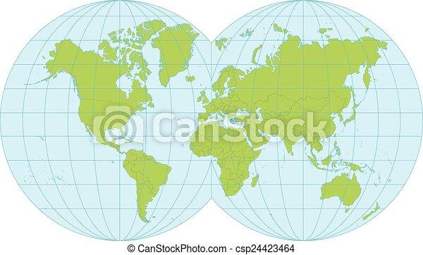 World map - csp24423464