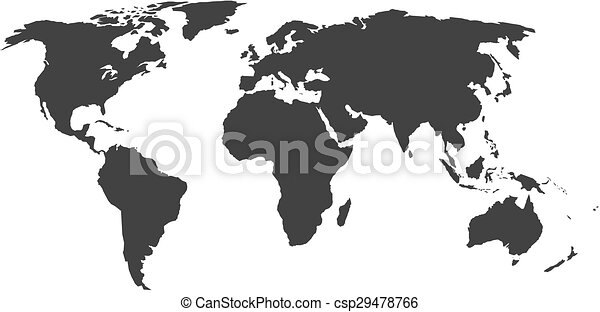 World map silhouette without states vector illustration clip art world map csp29478766 gumiabroncs Image collections