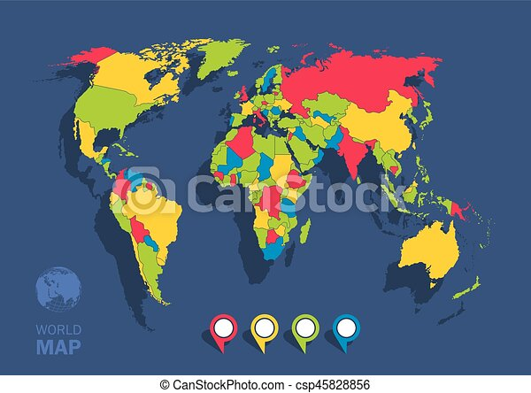 This image is a illustration of world map clipart vector search world map csp45828856 gumiabroncs Gallery