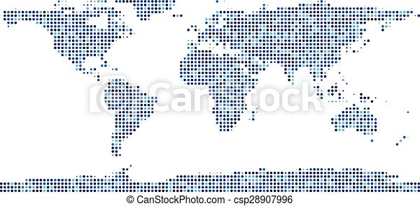 World map composed of dots world map composed of blue dots eps world map composed of dots csp28907996 gumiabroncs Image collections