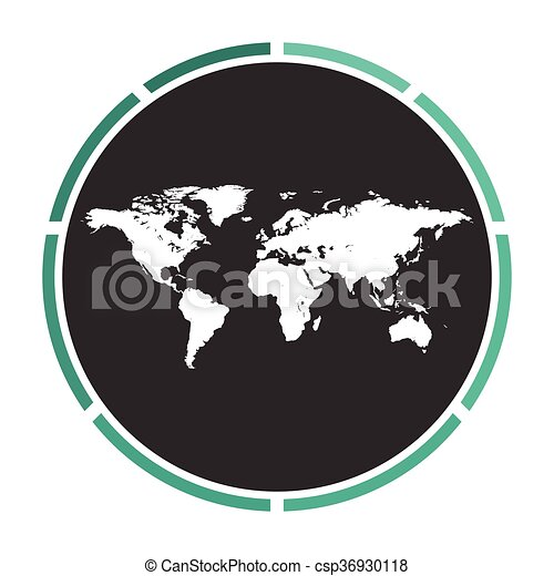 World map computer symbol world map simple flat white vector world map computer symbol csp36930118 gumiabroncs Gallery