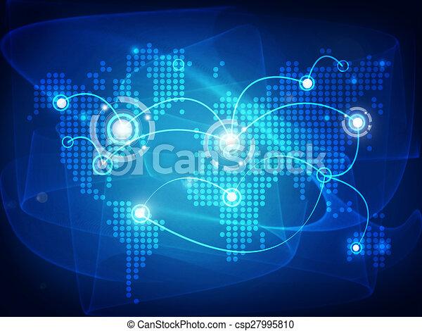 World Map Connected.World Map Connected With Lines
